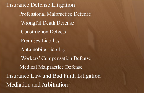 Insurance Defense Litigation, Commericial Transactions and Litigation, Oil and Gas law litigation -Allen, Shepherd, Lewis & Syra , P.A. Law firm practice areas